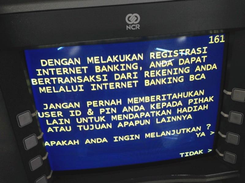 Registrasi Internet Banking BCA